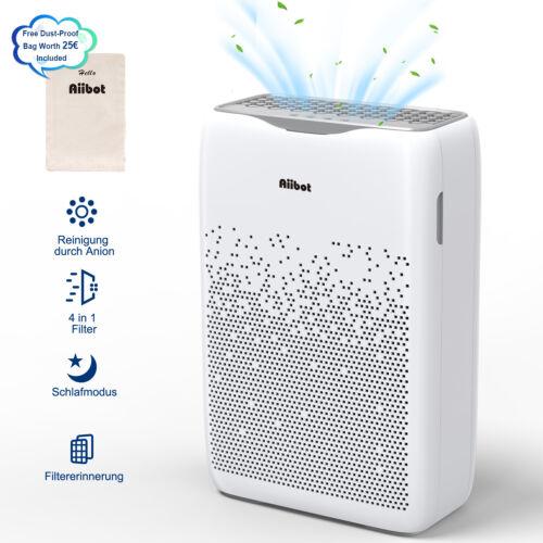 Aiibot Luftreiniger gegen Rauch Staub Pollen 99,97/% Filterleistung Timer Leise