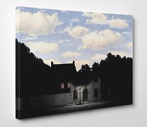 L Impero Delle Luci Magritte.Details About Quadro Magritte L Impero Delle Luci Stampa Su Tela Fine Art Poster Tavola Mdf
