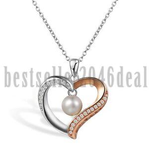 Herz-Zirkonia-Suesswasser-Perle-Love-Anhaenger-925-Sterling-Silber-Halskette