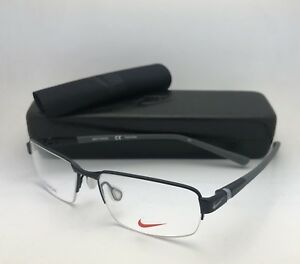 2bf7d70013 New NIKE Eyeglasses 6051 009 52-15 145 Semi Rimless Black   Grey ...