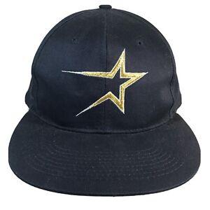Vintage-Original-1990s-Houston-Astros-SNAPBACK-CAP-HAT-Buffalo-Cap-Blemish