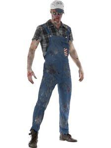 Details about Zombie Hillbilly Costume, Male Western Undead Halloween Fancy  Dress Costume