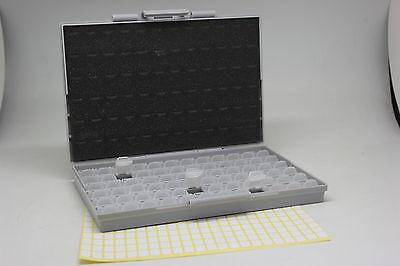 SMT resistor storage box Organizer 0603 0805 72 compartments 198 labels DE Ship