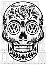 42x60cm Sugar candy Skull VW T25 T4 T5 camper graphic sticker vinyl side stripe