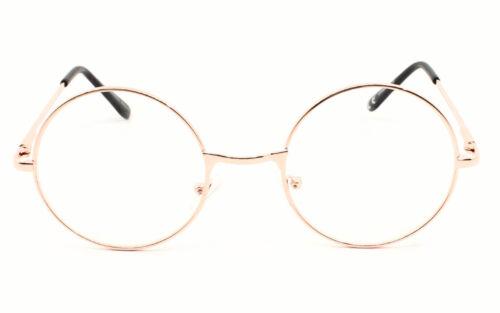 Kreis Rund Klarglas Brille 60er Jahre Style Geek Nerd Brille