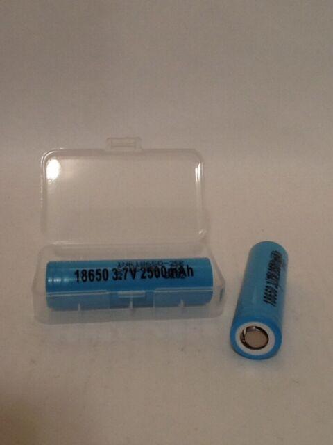 2-Samsung INR 18650 25R 2500mAh 35A Max 20A Cont. LI-Ion High Drain Free Case!
