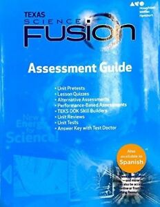 Details about Grade 8 Science Fusion Texas Assessment Guide + Answer Key  8th ScienceFusion