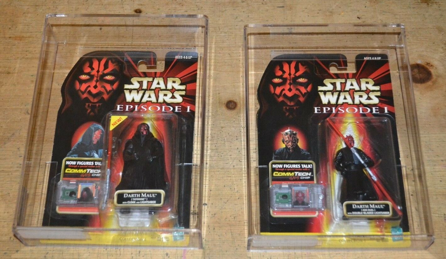 Darth Maul AFA graded set of 2 two figures Star wars