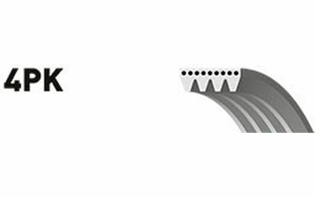 GATES Courroie d'alternateur-accessoires 4 nervures pour PEUGEOT 605 4PK1028