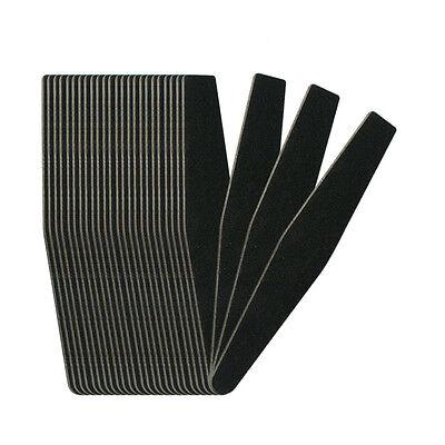 30 PCS Nail Art Tip 100/180 Black Rhombus Shape File Buffing Sanding Tools Set