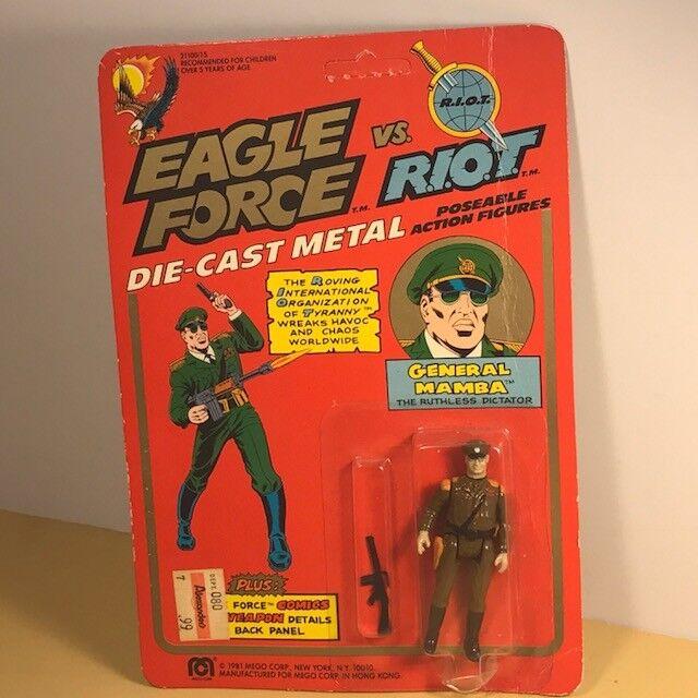 Fuerza Eagle 1981 Mego Figura De Acción Moc Die Cast Metal Soldado De Juguete General Mamba