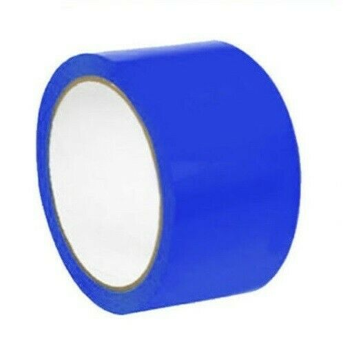 2 Inch x 36 Yards Blue Aisle Marking PVC Safety Tape 7 Mil 24 Rolls