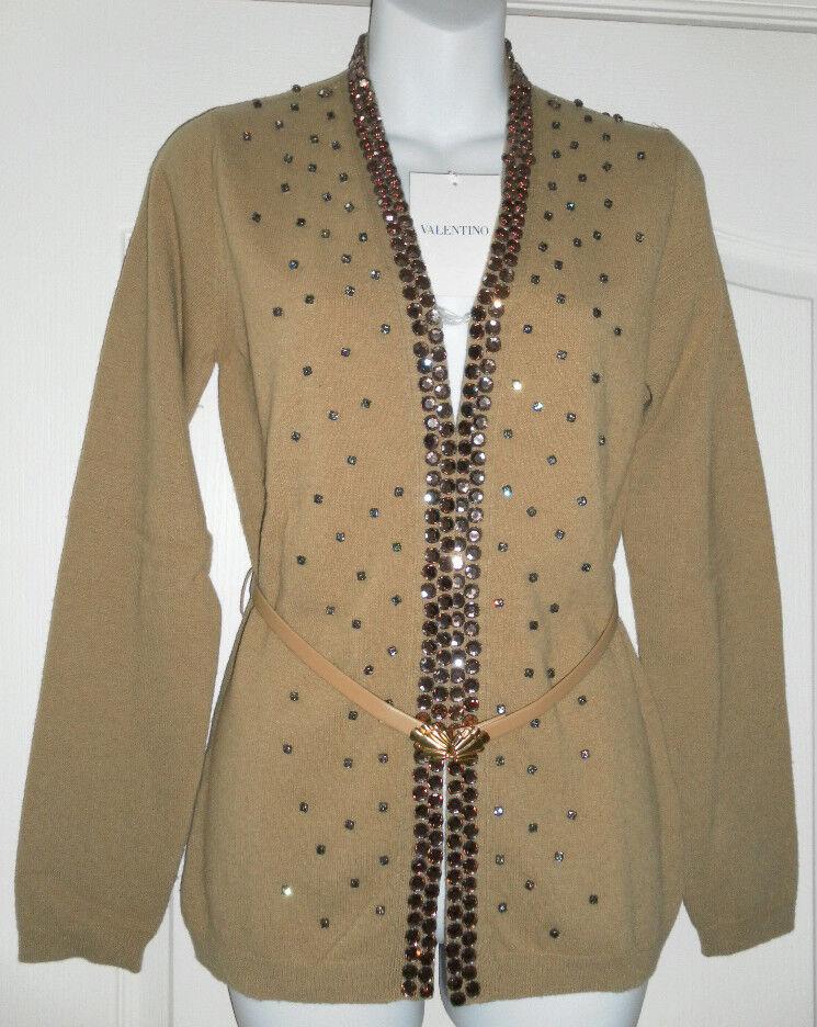 VALENTINO Rare Couture Runway Sweater Cardigan beaded Wool Kashmir blend