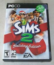THE SIMS 2  HOLIDAY EDITION FULL GAME 4 CD SET PC VIDEO GAME