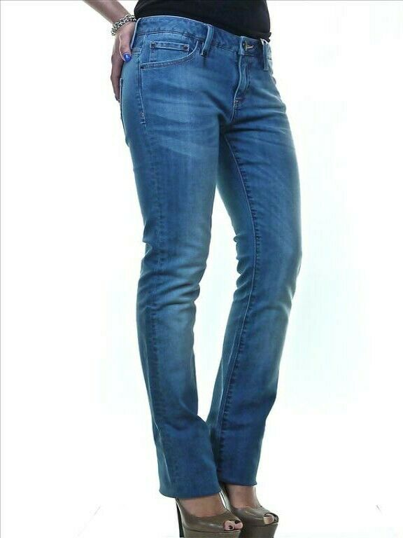 Lerock Donna Azzurro Slavato Svasato Denim Jeans