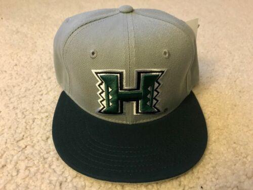 UH UNIVERSITY OF HAWAII RAINBOW WARRIORS NCAA SNAP BACK HAT BLACK GREY