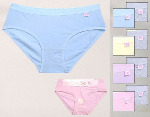 2 Pièce Fille Slips Girls Slip Coton//Élasthanne