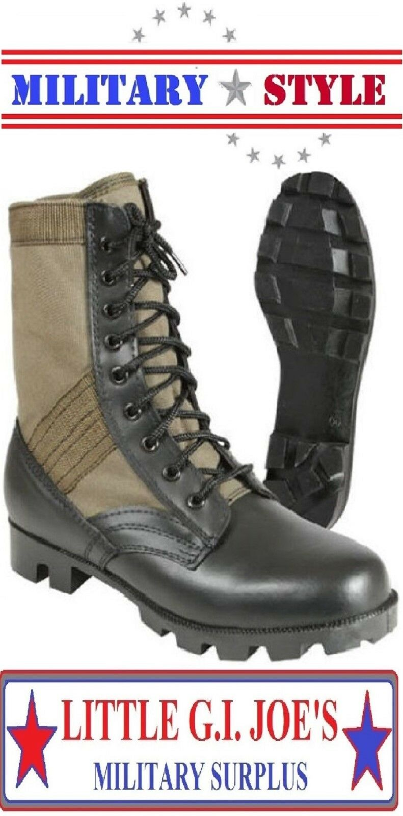 Jungle Boots Olive Drab Green Military Style Vietnam Boots 5080 redhco