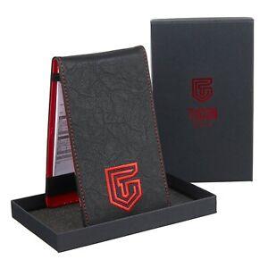 Golf Scorecard Holder PU Leather Pocket Score Card Premium Gift Pencil UK Stock