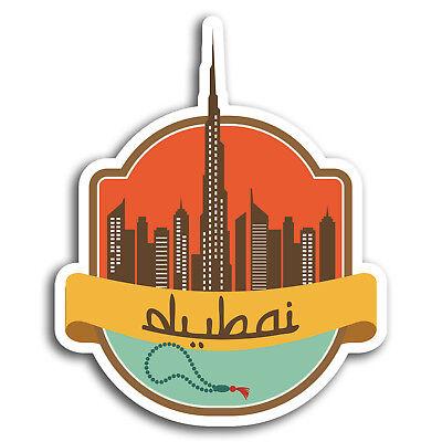 2 x 10cm Dubai Vinyl Stickers UAE Sunset Travel Sticker Laptop Luggage #18177
