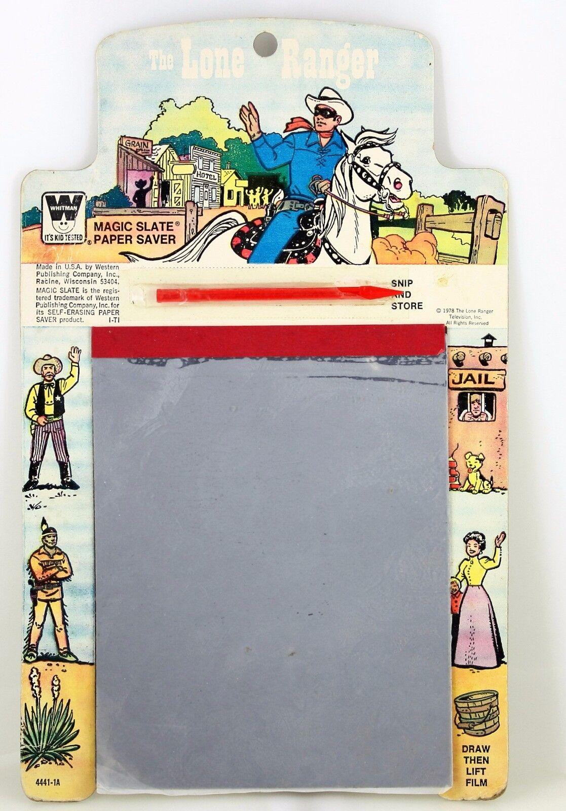 1978 The Lone Ranger Magic Slate Paper Saver