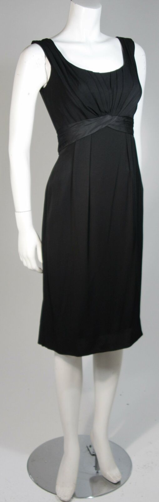 CEIL CHAPMAN 1950s Black Draped Cocktail Dress Si… - image 3
