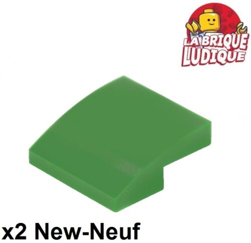 Lego 2x Slope curved pente courbe 2x2 vert//green 15068 NEUF