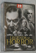 Legends of HORROR - 50 Classic Movies Hitchcock Bela Lugosi Karloff DVD Box Set