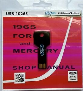 1964 FORD GALAXIE MERCURY MONTEREY MARAUDER SHOP SERVICE MANUAL USB