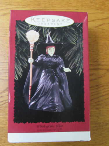 "Hallmark ""Witch Of The West"" Christmas Ornaments 1996"