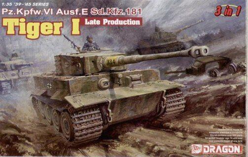 DRAGON 1 35 6406 pz.ausf.E TIGER I,late ( 3 in 1) model kit