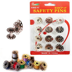 12-x-Bobbin-Industrial-Sewing-Machine-Tailor-Spools-Fit-Brother-Janome-Metal-PK
