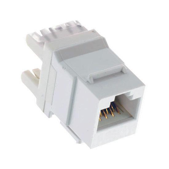 White 10pcs Keystone Jack Cat5e White Network Ethernet 110 Punchdown 8P8C