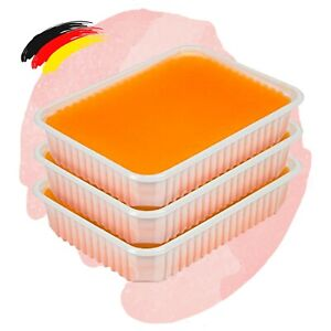 (16,58€/kg)Spar Pack Paraffin Wachs Schale 3 x 400g Orangen Duft Bad Block Mani