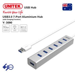 USB3-0-7-Port-Aluminium-Hub-Unitek-Y-3090-with-Charging-Function