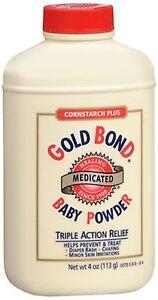 Gold Bond Cornstarch Plus Baby Powder 4 oz - 4 Pack