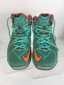 check out 80e3f 7b19b Image is loading NIKE-LEBRON-XII-BASKETBALL-SHOES-684593-301-TURQUOISE-