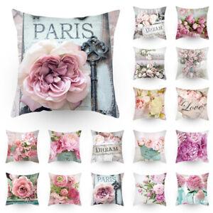 Colore-Fleur-Imprime-Maison-Decoratif-Taie-d-039-Oreiller-Canape-Housse-de-Coussin
