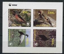 Kalmykia Birds WWF MNH Imperf M/S #A68045