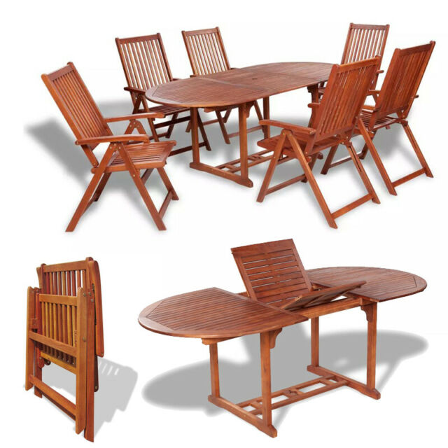 7 Piece Sling Outdoor Dining Patio Set