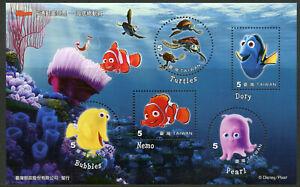 Taiwan-2008-Gomma-integra-non-linguellato-alla-ricerca-di-Nemo-5v-m-s-i-Disney-Pixar-animazione