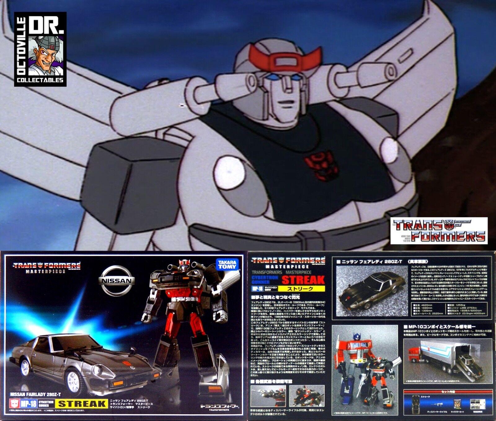 Transformers Authentic Takara Masterpiece MP-18 Streak   Sliverstreak Brand New