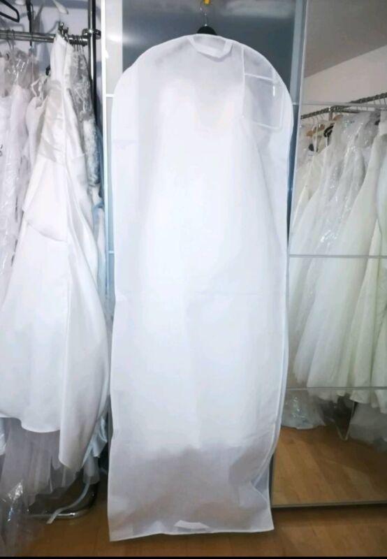 50 Brautkleidhüllen Weiß Vlies Kleidersack