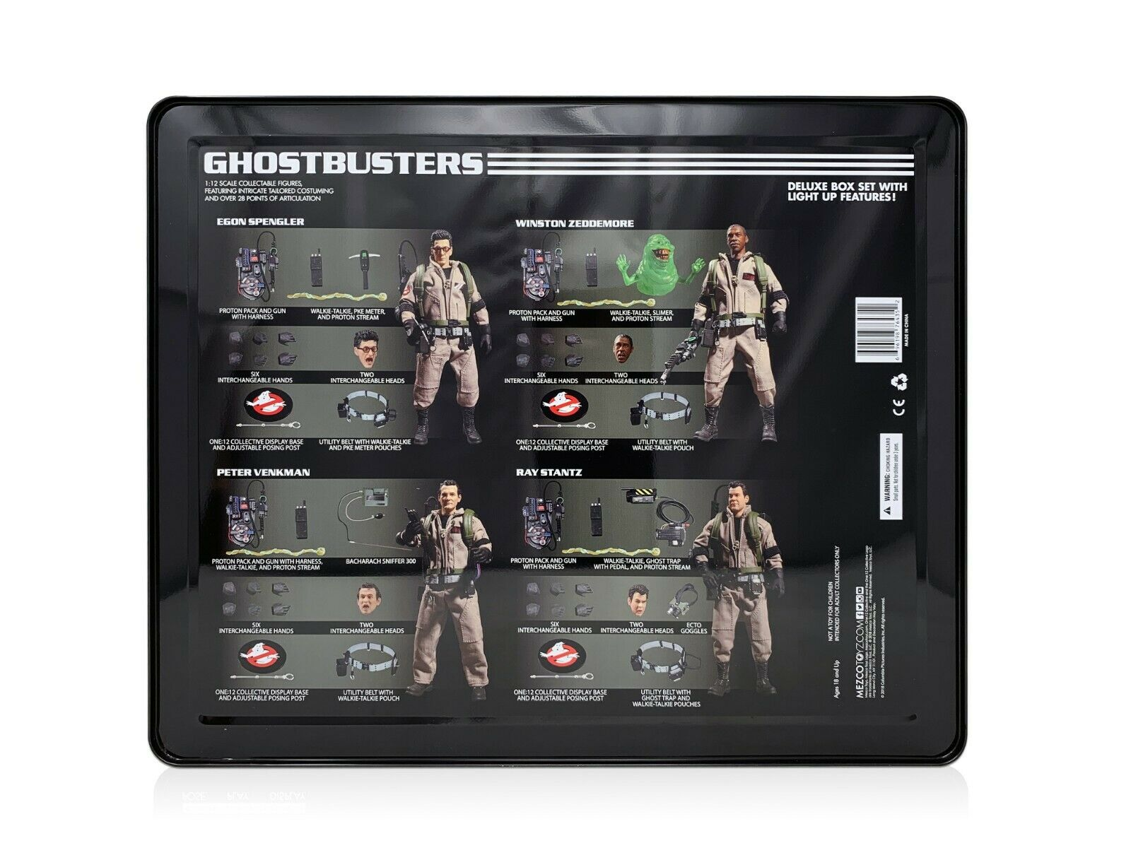 Mezco giocattoloz One 12 12 12 Collective Ghostautobusters Deluxe scatola Set 1 12 6  cifra scatola Set 9cf713