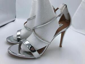5fdfd92fb33 Image is loading Steve-Madden-Floriaa-Heel-Sandal-Silver-Metal-1808-