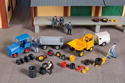 Affidabile Auhagen 41646 Tyre Shop Garage, Tyre, Wheels, Rims Alloys Ho Oo Gauge