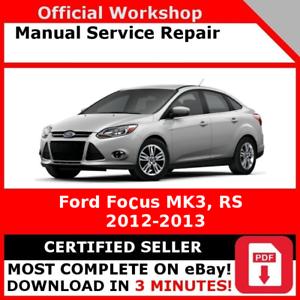 factory workshop service repair manual ford focus mk3 rs 2010 rh ebay co uk ford focus mk3 manual ford focus mkiii manual