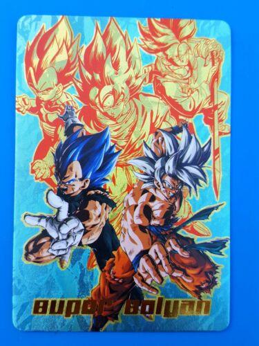 Custom HK Card Dragon Ball Fan Prism Goku /& Vegeta Flash Carddass