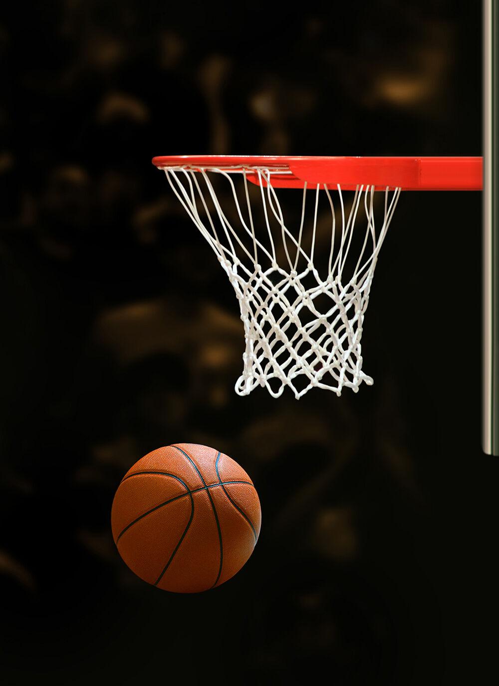 3D Basketball Hoop Photo Papier Peint en Autocollant Murale Plafond Chambre Art