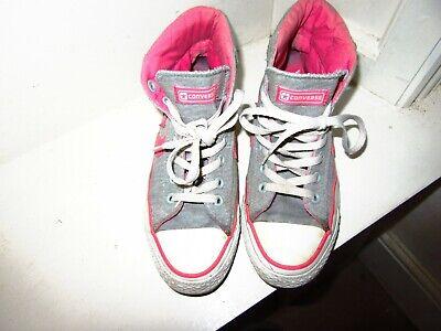 Ladies GreyPink Converse All Star High Tops Size 5.5   eBay